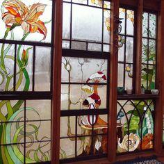 The Glass Cabin - glass technique foil window frames glass windows Stained Glass Panels, Stained Glass Patterns, Stained Glass Art, Mosaic Glass, Beveled Glass, Glass Cabin, Glass House, Post Holiday Blues, Glass Installation