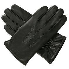 Luxury Lane Men's Cashmere Lined Goatskin Leather Gloves