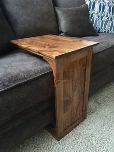 Knotty Alder sofa table #woodworkingprojects