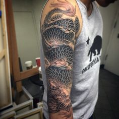 100 Dragon Sleeve Tattoo Designs For Men Fire Breathing, 100 Dragon Sleeve Tattoo Designs For Men Fire Breathing. 100 Dragon Sleeve Tattoo Designs For Men Fire Breathing. Dragon Tattoos For Men, Dragon Sleeve Tattoos, Japanese Dragon Tattoos, Girls With Sleeve Tattoos, Japanese Sleeve Tattoos, Dragon Tattoo Designs, Best Sleeve Tattoos, Tattoo Sleeve Designs, Arm Tattoos For Guys