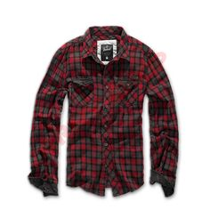 2ad5ffe5a4 Buy Brandit Checkshirt Duncan in Red / Brown colour now at Military the UK  based online store. Visit our website for a huge collection of casual  shirts and ...
