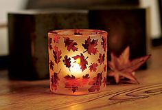 Autumn Glow Votive Holder #candles #PartyLite