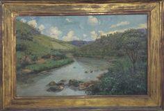 VICENTE LEITA - Extraordinário e grande quadro óleo s/ tela, CURVA DO PIAGANHA, ITAIPAVA, datado 193