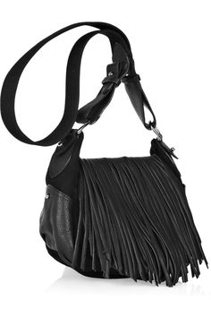 ISABEL MARANT Frangie fringed leather bag Leather Bags a382bb0a2f274