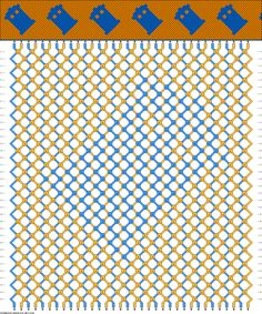 Friendship Bracelet Pattern - Tardis - Dr. Who -- Will make with white (not orange) and maybe add a blue edge