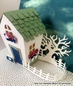 Home Sweet Home by Delys Cram (New Zealand) I love this bundle and teamed it up with the Halloween Scenes Edgelits for a different look. I embossed the house with brick wall EF too