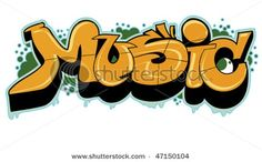 Graffiti Bubble Backgrounds Music Designs