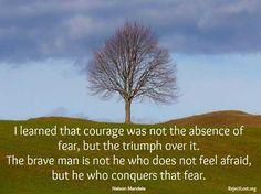 Nelson Mandela #fear #quote