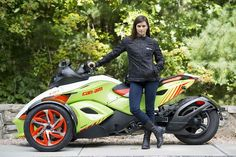 @DanicaPatrick loves the sharp style of the Can-Am Spyder RS-S
