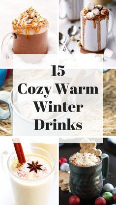 If you need a cozy warm beverage to heat you up this winter check out these 15 cozy hot winter drinks that are just delicious! Drink Recipes Nonalcoholic, Easy Alcoholic Drinks, Yummy Drinks, Mocktail Drinks, Martinis, Party Drinks, Tea Party, Christmas Drinks Alcohol, Holiday Drinks