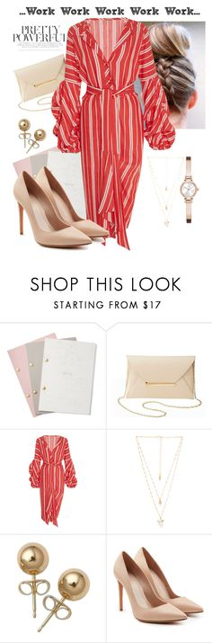 """""""Work"""" by fashionaholic-mimi ❤ liked on Polyvore featuring StudioSarah, Charlotte Russe, Johanna Ortiz, Natalie B, Bling Jewelry, Alexander McQueen, DKNY, WorkWear and Workit"""