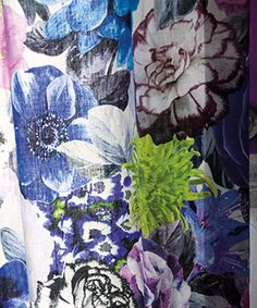 Custom Bedding, decorative pillows and furniture made from Designers Guild fabric, imported from England available at Jane Hall Design Tricia Guild, Color Plan, Paint Color Schemes, Drapery Fabric, Curtains, Color Psychology, Designers Guild, Fabric Wallpaper, Textile Prints