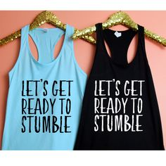 Bachelorette Party Tank Top XS 2XL Shirts Lets Get Ready