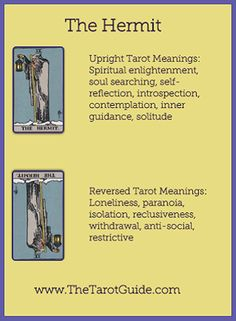 What Are Tarot Cards? Made up of no less than seventy-eight cards, each deck of Tarot cards are all the same. Tarot cards come in all sizes with all types of artwork on both the front and back, some even make their own Tarot cards The Hermit Tarot, Tarot Cards For Beginners, Tarot Card Spreads, Online Tarot, Tarot Astrology, Tarot Major Arcana, Tarot Card Meanings, Tarot Readers, Oracle Cards