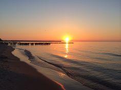 Sunset in Ustka,Poland, Baltic Sea