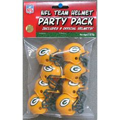Green Bay Packers Pocket Pro Gumball Party Pack Helmets