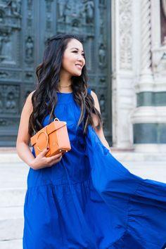 Duomo di Firenze :: Maxi dress & Leather sandals - Wendy's LookbookWendy's Lookbook
