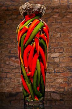 Unique kitchen decor - Chili Peppers