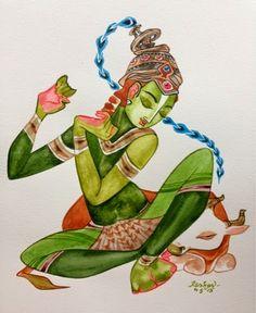 Kamadenu: Ananya series. #Krishnafortoday #watercolor