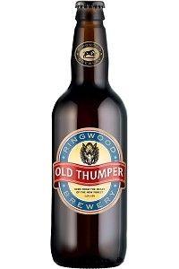 Cerveja Old Thumper, estilo Standard Bitter, produzida por Ringwood Brewery, Inglaterra. 5.6% ABV de álcool.