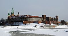 Wawel, widok z mostu Dębnickiego.