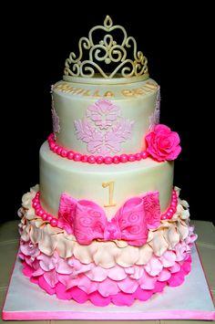 Vintage Princess themed birthday Cake ~ love!