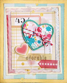 """Crate Paper """"Oh Darling"""" kit inspiration"""