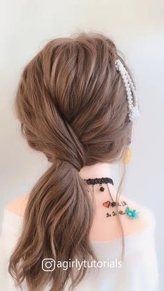 10 Ways To Make Beautiful Simple Hairstyle Go To School Part 1 Easy Hairstyles For Long Hair, Up Hairstyles, Easy Hairstyles Tutorials, Short Hair Updo Easy, Simple Hairstyle Video, Short Hairstyle Tutorial, Simple Hair Updos, Hairstyles With Headbands, Hairstyles For Short Hair Easy