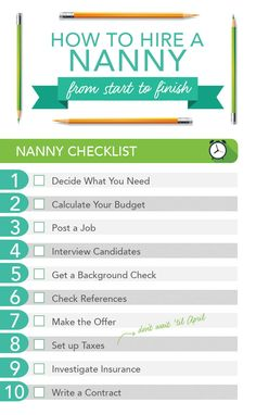 Let's face it -- hiring a nanny can seem stressful, especially when you don't know where to begin. But if you break the process down step-by-step, you're more likely to do a thorough job and will have a great nanny hiring experience. Parenting Quotes, Parenting Hacks, Nanny Binder, Babysitting Kit, A Nanny, Pregnancy Signs, Tips & Tricks, Foster Parenting, Mom Advice