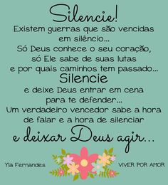 Silêncio!! Portuguese Quotes, Wise Words, Perspective, Blessed, Faith, Thoughts, Vivo, Stones, Facebook