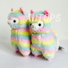 "17"" Rainbow Alpaca Plush Toy Stuffed Animals"