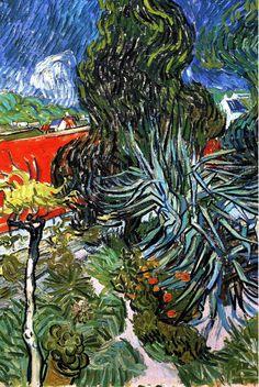 """vincentvangogh-art: """" The Garden of Doctor Gachet at Auvers-sur-Oise, 1890 Vincent van Gogh """""""