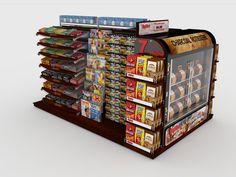 Large custom FEM (Front Eng Merchandiser) concept for grocery store chains.  www.sharkskindesign.com