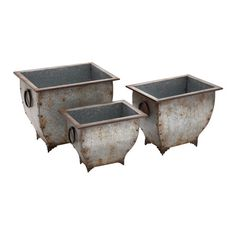 Found it at Wayfair - Artistic 3 Piece Rectangle Planter Box Set http://www.wayfair.com/daily-sales/p/Country-Chic-Garden-Accents-Artistic-3-Piece-Rectangle-Planter-Box-Set~WLI11430~E20387.html?refid=SBP.rBAZEVQ_-nOfYi4-RTqhAtXunS1N6UITupfeiqDPnpQ