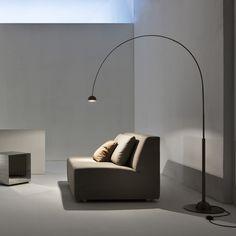 floor lamp dark oxidised brass || Satellite CG 50 | Laura Meroni