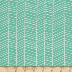 Joel Dewberry True Colors Herringbone Turquoise from @fabricdotcom  Designed by Joel Dewberry for Free Spirit Fabrics, this fabric features an abstract herringbone design and is perfect for quilting, apparel and home decor accents. Colors include seafoam and white.