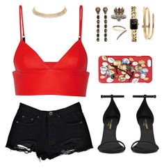 """""""Untitled #310"""" by gr20gk on Polyvore featuring T By Alexander Wang, Boohoo, Yves Saint Laurent, Gucci, Alexander McQueen, Chanel, Cartier, Sho and Dolce&Gabbana"""