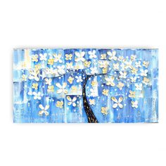 """""""Resist much. Obey little."""" ~Walt Whitman   TITLE: TREE AZUL  This is the Original as shown, (Ready to ship !)    ✿Artwork description- Abstract quote typography on canvas ✿Size: 24 x 48 quality Gallery wrap canvas, comes ready to hang. ✿Back wrapped stretched box canvas, black painted edges ✿Medium- acrylic, mixed media ✿Signed and dated on the front and back by the artist Katey Turturro   Thanks for visiting my shop !  Katey,"""