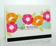 Cool layers, could use any floral stamp set