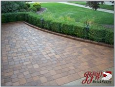 Brick pavers are one of the most attractive and distinctive materials for hardscaping and landscape design. They are used for walkways, patios, pool decks, driveways, and as edging. Brick paving is very popular with both landscaping contractors and. Brick Paving, Brick Driveway, Brick Paver Patio, Driveway Sealer, Driveway Repair, Driveway Ideas, Patio Ideas, Outdoor Ideas, Outdoor Decor