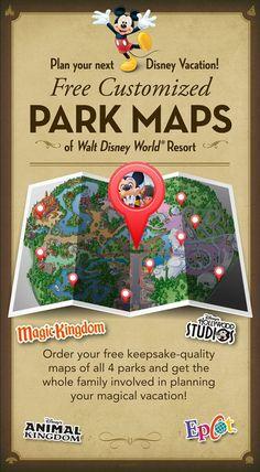 Plan your next Disney Vacation! Create FREE customized Park Maps of Walt Disney World Resort!