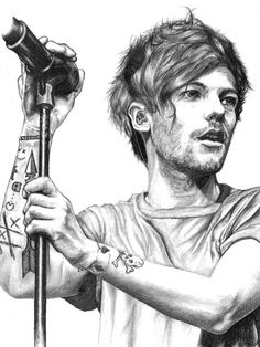 one direction sketch One Direction Fan Art, One Direction Drawings, One Direction Louis, One Direction Photos, Harry Styles Drawing, Louis Tomilson, Celebrity Drawings, Amazing Drawings, Drawing Sketches