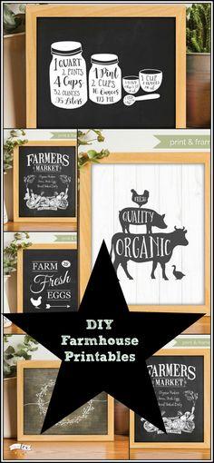 DIY Farmhouse decor on a budget! #printable #farmhouse #ad #diy #fixerupper