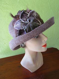 Packable Waterproof  Eric Javits Lavender Purple  Chenille  Hat Sun…