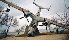 Fighter Planes That Became Battle-Scarred War Monuments Beriev Be-6, near Myrnyy, Ukraine