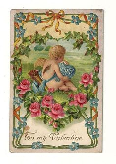 Collectible Antique Valentine's Day Greetings Postcard 1913.......f • PicClick