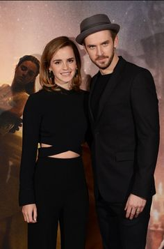 Emma Watson and Dan Stevens: London Beauty and the Beast photocall. Pinned by @lilyriverside