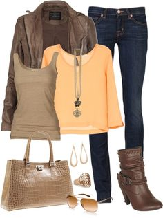 """soft orange"" by amandagrace19 on Polyvore"