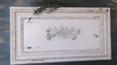 Sold wood panel wall decor distressed in white by MyDistressedNest, $75.00