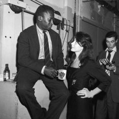 Miles Davis with Juliette Greco and Boris Vian, Paris, Grace Jones, Grace Kelly, Miles Davis, Jazz Artists, Jazz Musicians, Music Artists, Ursula Andress, Juliette Binoche, Smooth Jazz